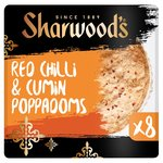 Sharwood's Spicy Chilli & Cumin Poppadoms