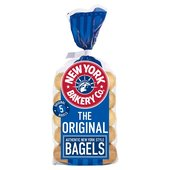 New York Bakery Co. Plain Bagels
