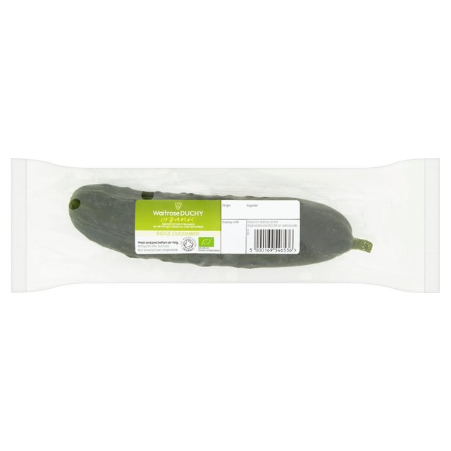 Waitrose Organic Ridge Cucumber