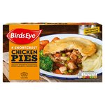 Birds Eye 4 Shortcrust Chicken Pies Frozen