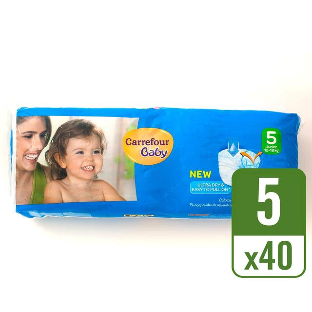 Carrefour Baby Ultra Dry Pull On Size 5 Essential Pack 40 per pack ... cc24d2dbb30