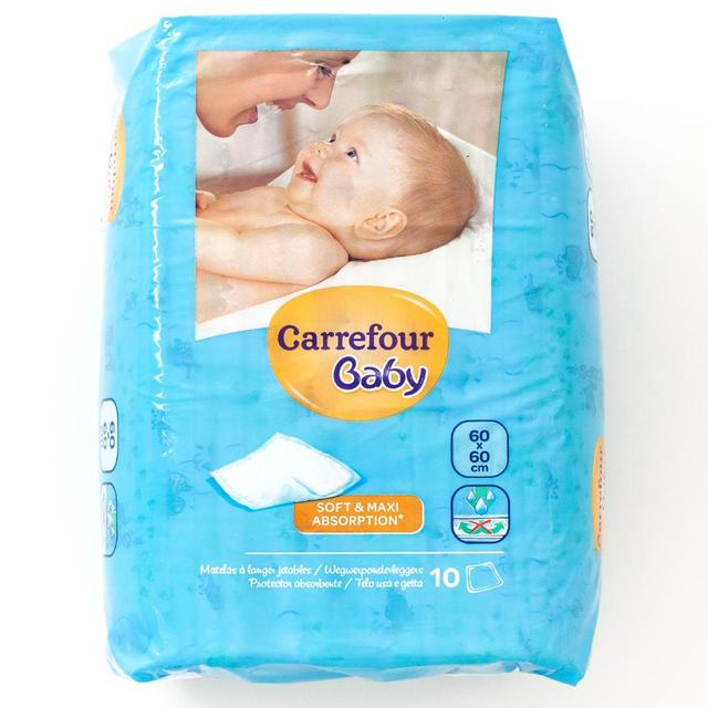 Carrefour Baby Changing Mats 60x60cm 10 per pack from Ocado 31161ed8b29