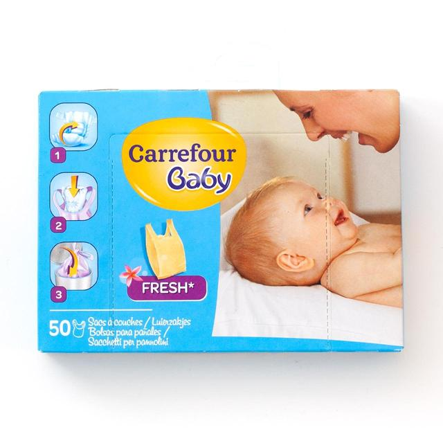 Carrefour Baby Nappy Sacks Fresh 50 per pack from Ocado a2c678d4f1c