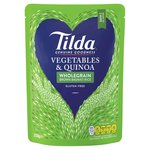 Tilda Steamed Brown Basmati, Garden Vegetable & Quinoa