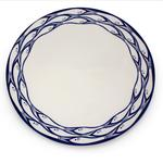 Jersey Pottery Sardine Run Dinner Plate 28cm, White/Blue
