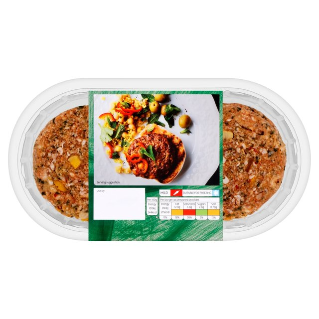 Waitrose 4 Lamb Burgers with Apricots & Moroccan Spices