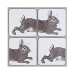 Thornback & Peel Rabbit Coasters