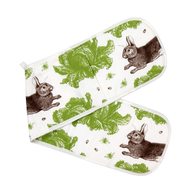 Thornback & Peel Cotton Rabbit & Cabbage Oven Gloves