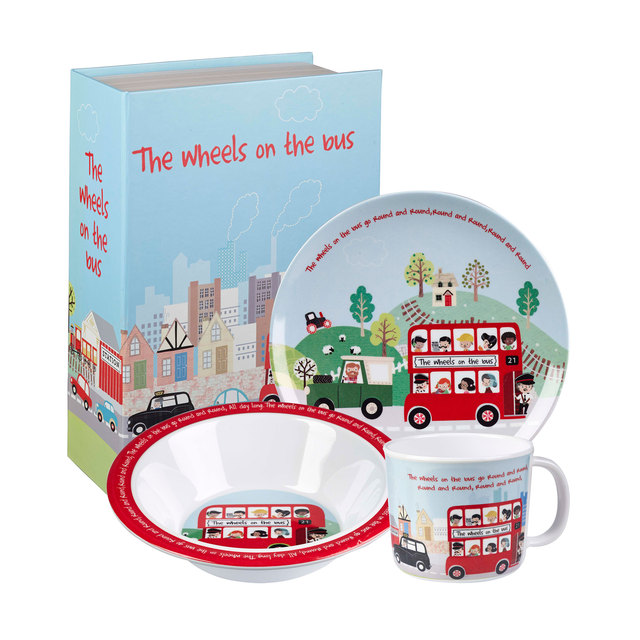 Wheels On The Bus Dinner Set From Ocado · Personalised Melamine Kids Dinner Set Baby ...  sc 1 st  Best Image Engine & Surprising Personalised Melamine Dinner Set Pictures - Best Image ...