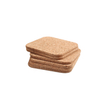 T&G Woodware Cork Coasters Square