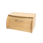 T&G Bread Bin in Natural Hevea Wood