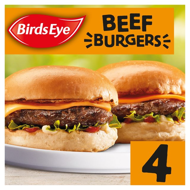 Birds Eye 4 Original Beef Burgers Frozen 227g From Ocado