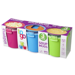 Sistema To Go Plastic Soup Mugs 656ml, Assorted Colours