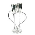 Culinary Concepts Lover's Flutes & Heart Stand Set