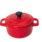 Chasseur Ceramic Casserole Dish & Lid 10cm, Red