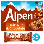Alpen Fruit & Nut Bars with Milk Chocolate