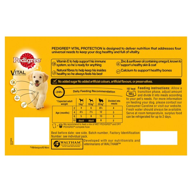 Pedigree Dog Food Puppy Pouches Meat In Jelly 24 X 100g From Ocado