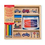 Melissa & Doug Vehicle Stamp Set, 4yrs+