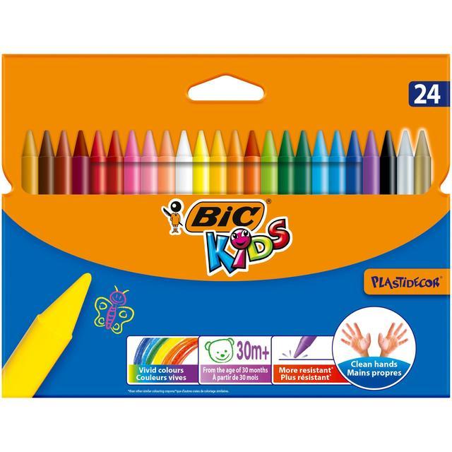 Bic Kids Plastidecor Crayons 24 per pack from Ocado