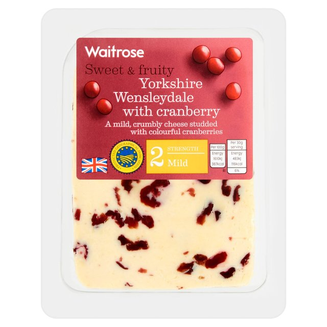 Waitrose Wensleydale with Cranberries