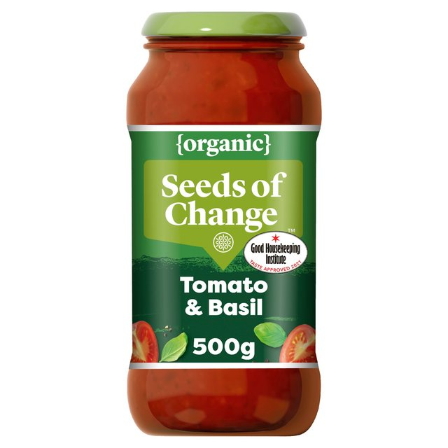 Seeds Of Change Tomato & Basil Pasta Sauce 500g from Ocado