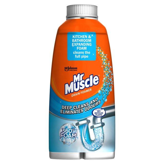 Mr Muscle Drain Foamer Odour Eliminator 500ml From Ocado