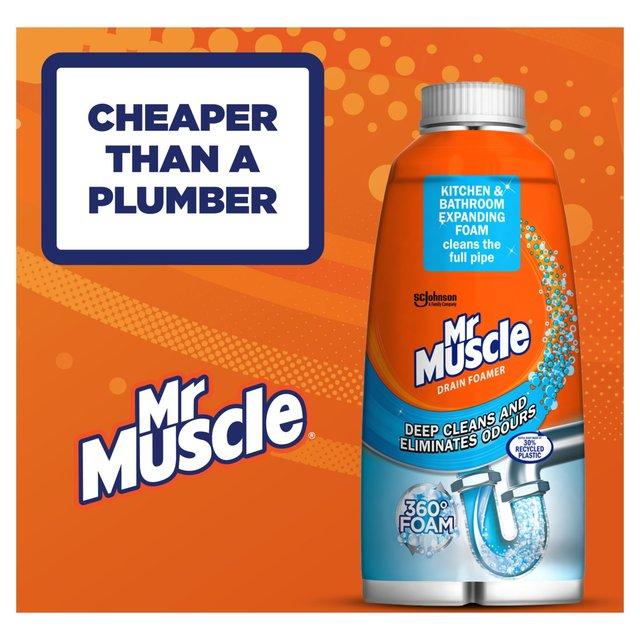 Mr Muscle Drain Foamer Odour Eliminator Ocado