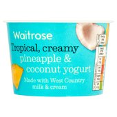 West Country Rhubarb Yogurt Waitrose