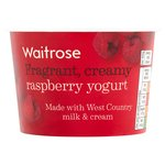 Waitrose West Country Raspberry Yogurt