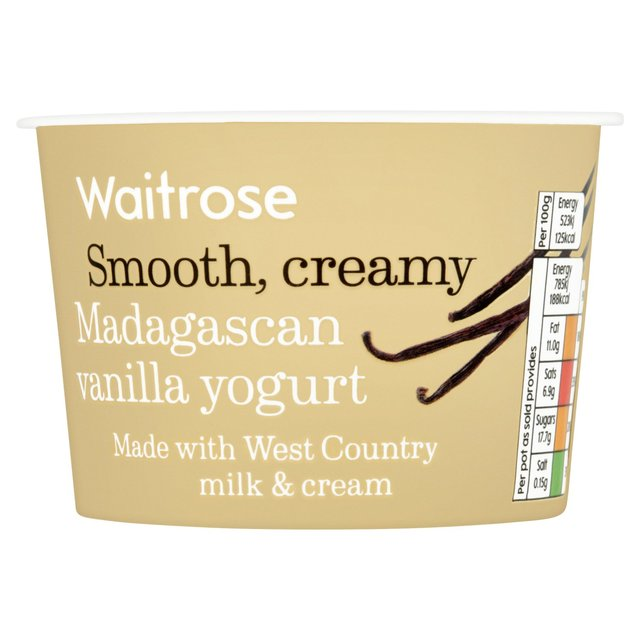 Waitrose West Country Madagascan Vanilla Yogurt