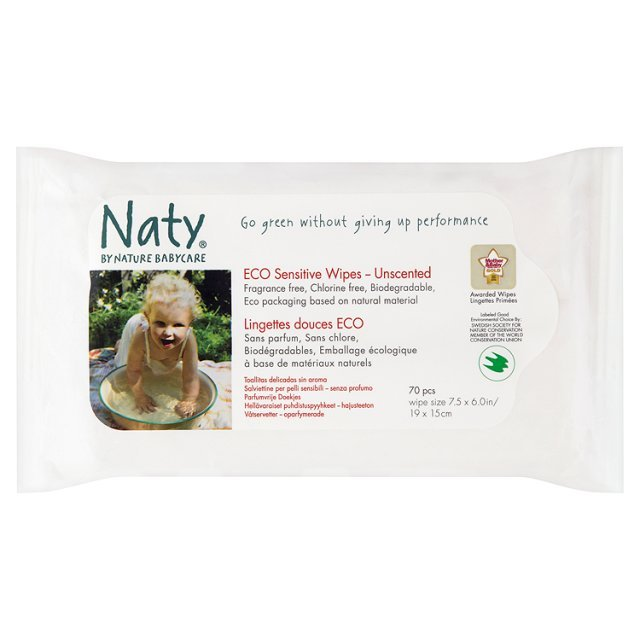 Naty by Nature Babycare Eco Sensitive Wipes - Unscented