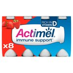Actimel Strawberry Drinking Yogurts