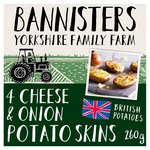 Bannisters' Farm Cheese & Roasted Onion Potato Skins Frozen