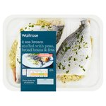 Waitrose 2 Sea Bream Broad Bean, Pea & Feta