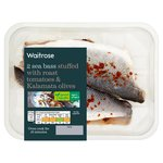 Waitrose 2 Butterflied Sea Bass with Tomato & Olive