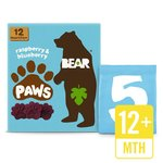 BEAR Pure Fruit Paws Raspberry & Blueberry Multipack