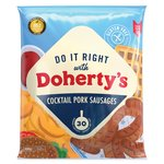 Dohertys Gluten Free Cocktail Pork Sausages Frozen