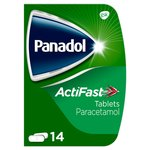Panadol Actifast 500mg Paracetamol Pain Relief Tablets