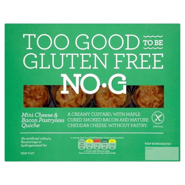 No.G Gluten Free Mini Cheese & Bacon Pastryless Quiches from Ocado