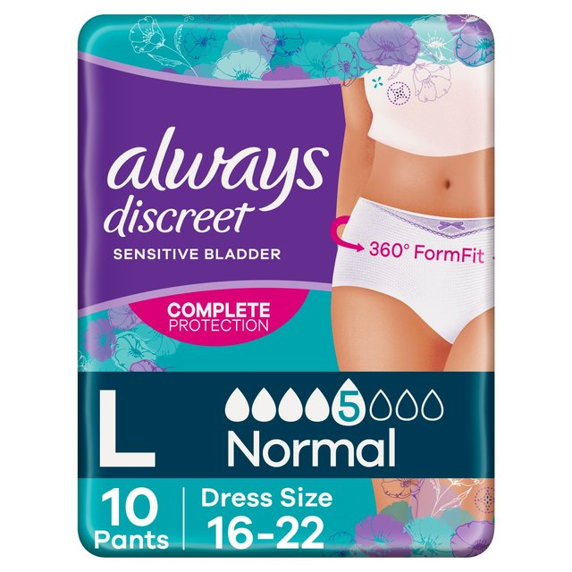 Always Discreet Incontinence Pants L
