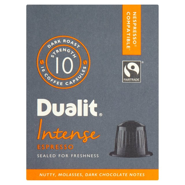 Dualit Intense Nespresso Compatible Coffee Capsules 10 Per Pack From