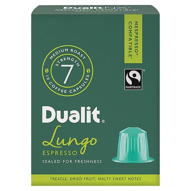 Dualit Lungo Nespresso Compatible Coffee Capsules 10 Per Pack From Ocado