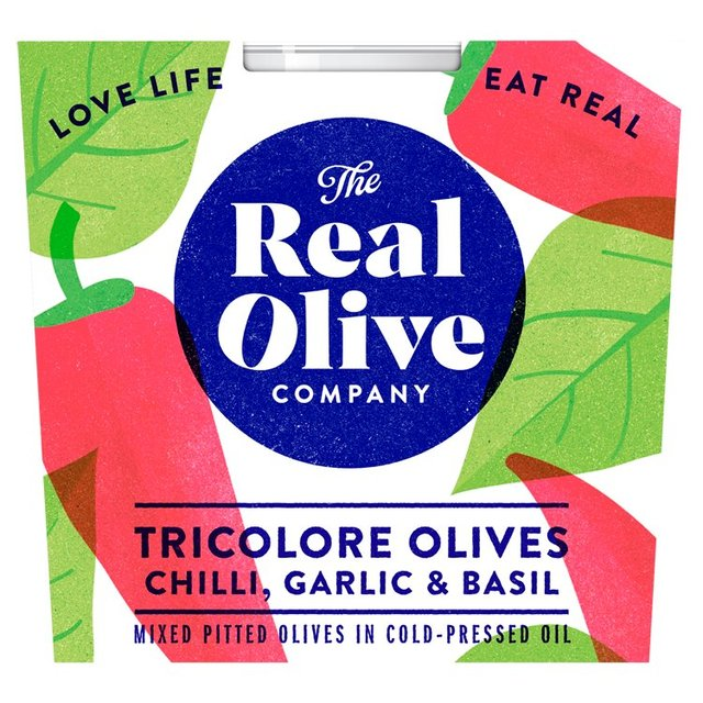 Real Olive Co. Pitted Tricolore Mixed Olives