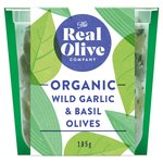 Real Olive Co. Organic Wild Garlic & Basil Pitted Olives