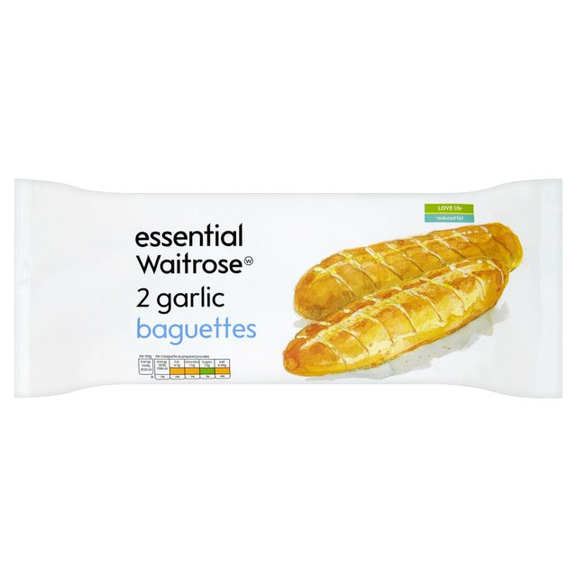 2 Garlic Reduced Fat Baguettes Essential Waitrose