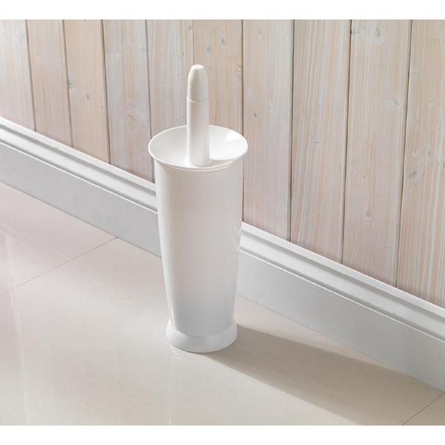 Addis Closed Toilet Brush Set Plastic White Grey Charcoal W12.5 x D12.5 x H39 cm