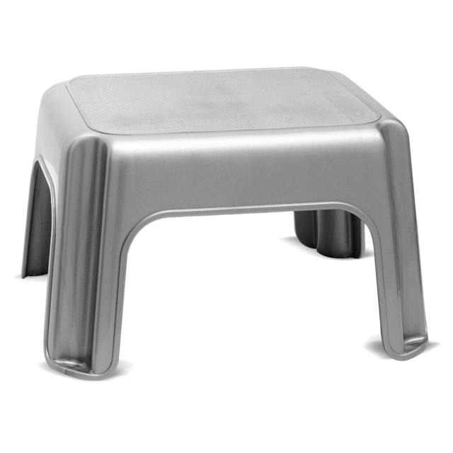 Brilliant Addis Step Stool With Anti Slip Feet Metallic Ocado Gmtry Best Dining Table And Chair Ideas Images Gmtryco