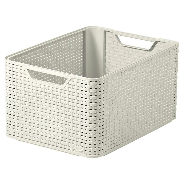 Curver Basket Large, Vintage White