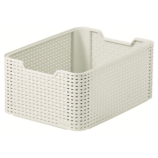 rattan basket small from storage box.htm laundry baskets laundry   cleaning vintage white curver my style  vintage white curver my style