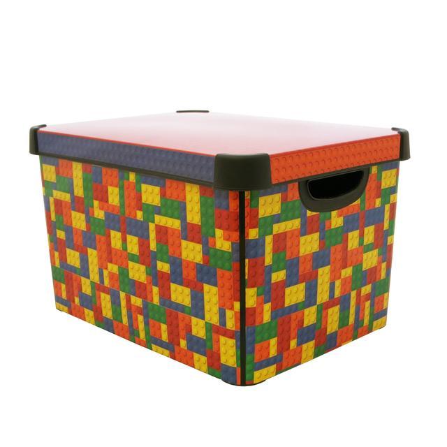 curver deco blocks box 22l from ocado. Black Bedroom Furniture Sets. Home Design Ideas